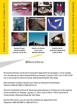uitnodiging voor expositie bij Ernst en Young